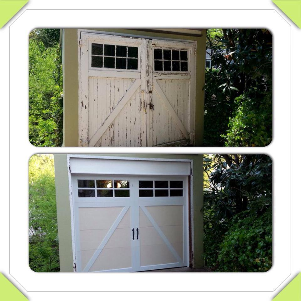 Before and After - Stoneberger Garage Doors